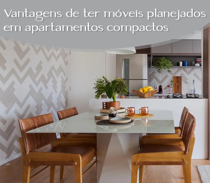 Móveis planejados para otimizar o espaço em apartamentos pequenos
